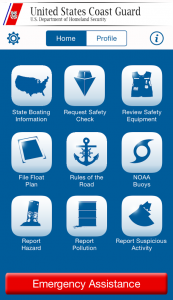 Image of Coast Guard App Screen